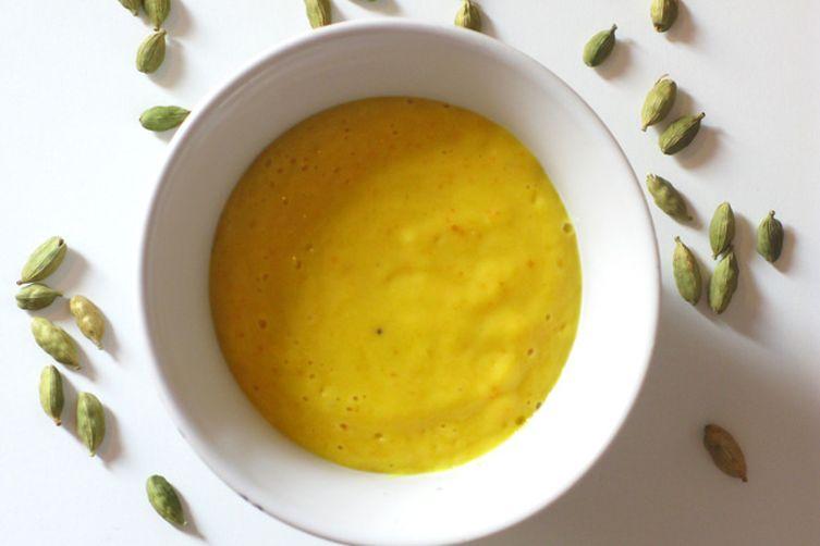 Orange cardamom fro-yo