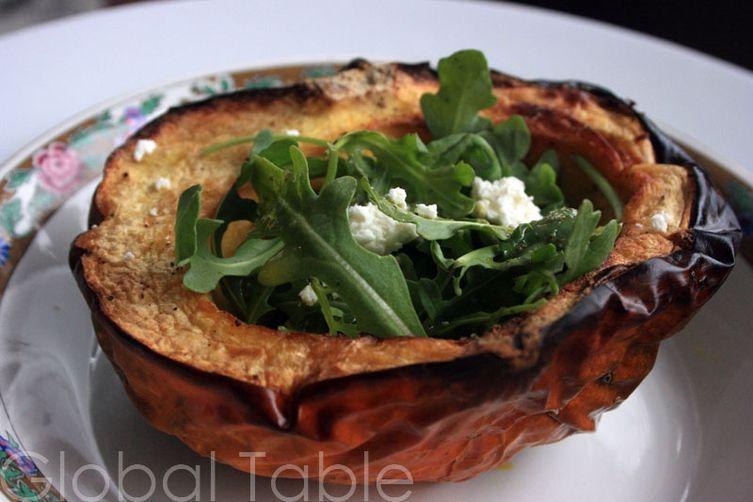 Roasted Pumpkin Salad with Arugula & Chèvre
