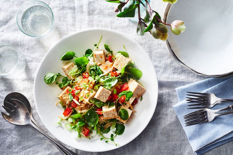 Hawaiian Tofu and Watercress Salad