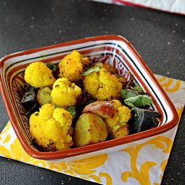Roasted Cauliflower and Potatoes with Bengali Spices