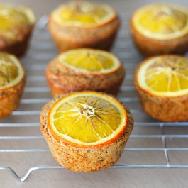 Orange PoppySeed Muffins with Orange  Blossom Water