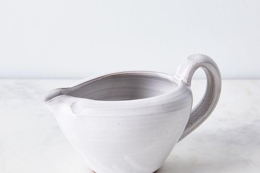Handmade Dipped Ceramic Gravy Boat