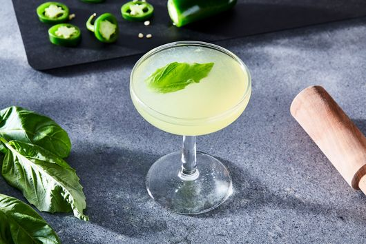 The Project Gemini (Spicy Basil Margarita with Cointreau)