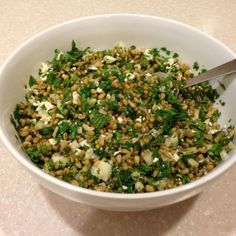 Freekeh Salad with Fennel and Mint