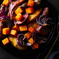 Rosemary-Roasted Potatoes, Butternut Squash, and Red Onion