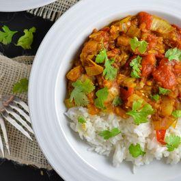 Baingan Bharta with Rice