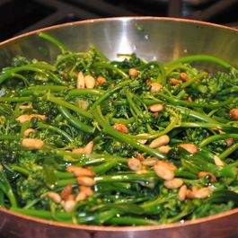 Broccoli Rabe with Savory Pine Nuts and Meyer Lemon