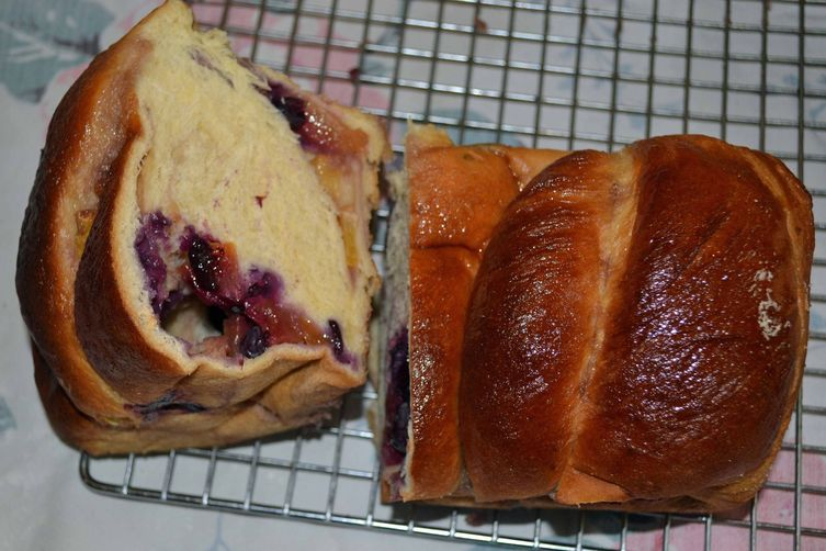 Blueberry-Peach Summertime Babka