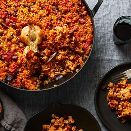 Smoky Baked Rice with Chorizo & All the Garlic (No Peeling, Chopping, Mess)