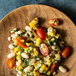 Grilled Corn and Barley Salad w/Tomato Vinaigrette by NanciKnits