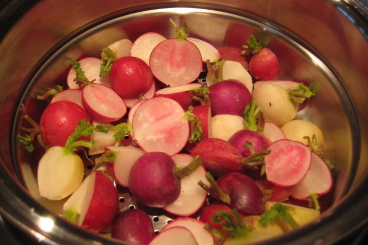 Creamy and Rosey Multi-Color Radishes