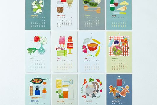 Illustrated 2016 Calendar