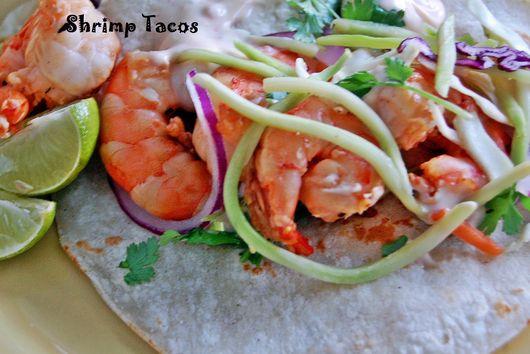 Grilled Ponzu Shrimp Tacos