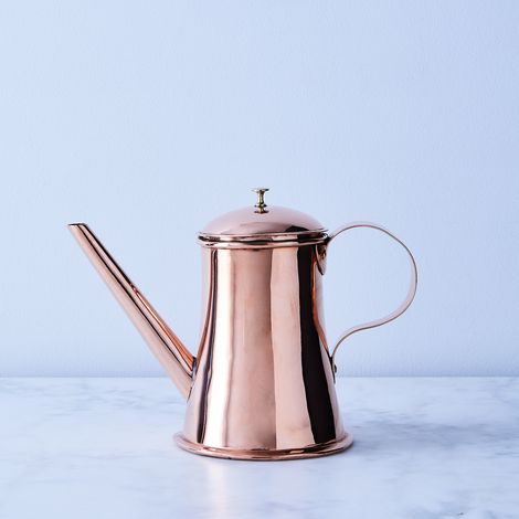 Vintage Copper English Tankard-Style Coffee Pot, Late 19th Century