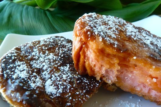 Hawaiian Island Sweet Bread French Toast with Coconut Syrup