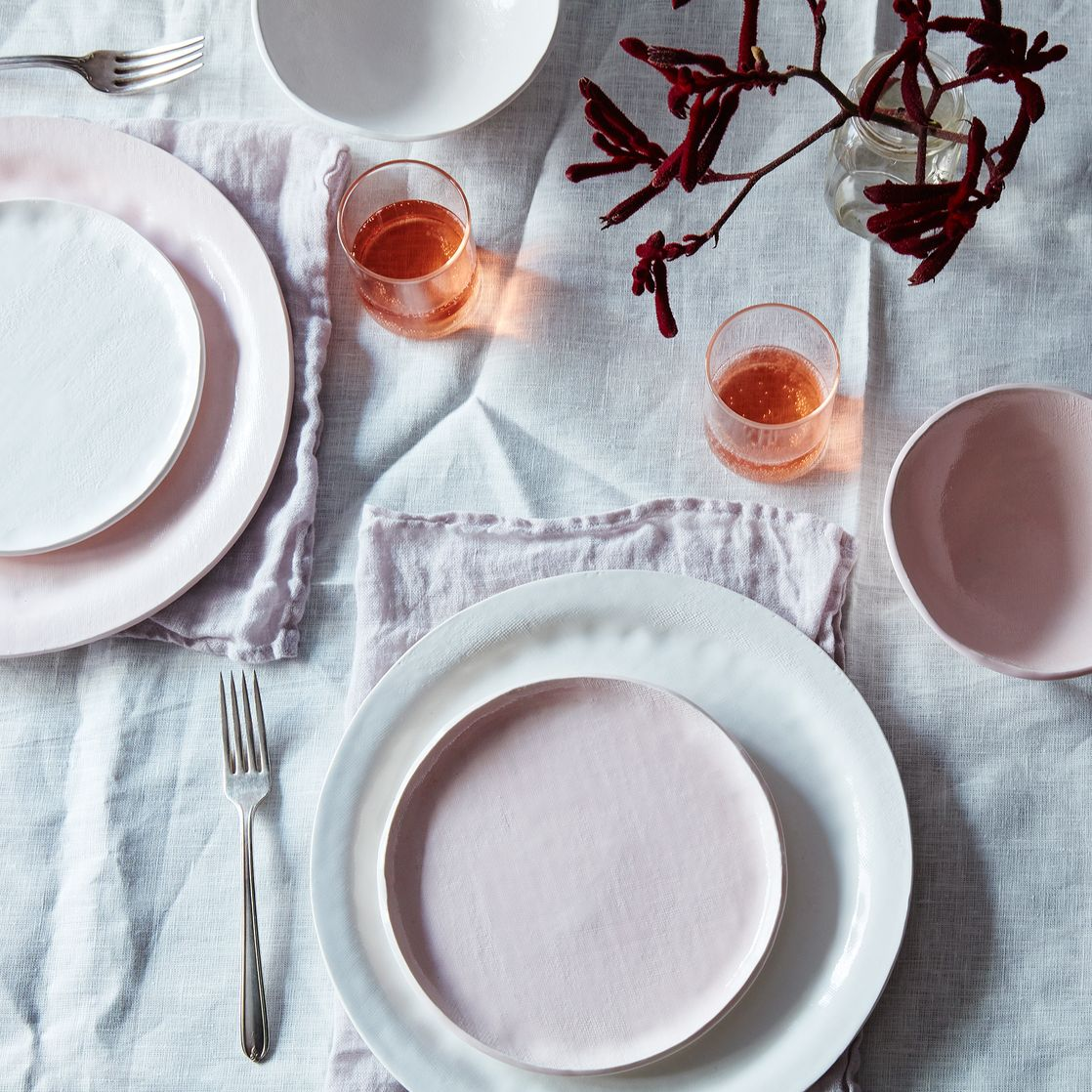 food pink textured porcelain dinnerware set by looks like white  - food pink textured porcelain dinnerware set by looks like white