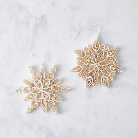 Winter Snowflake Paper Ornaments