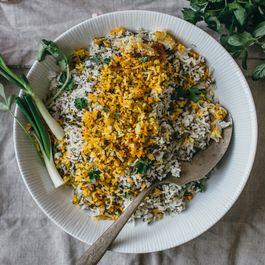 F085a7cc 097c 46d1 b78e 860de47181d3  persian herby pilaf and fish sabzi polo mahi saghar setareh 2