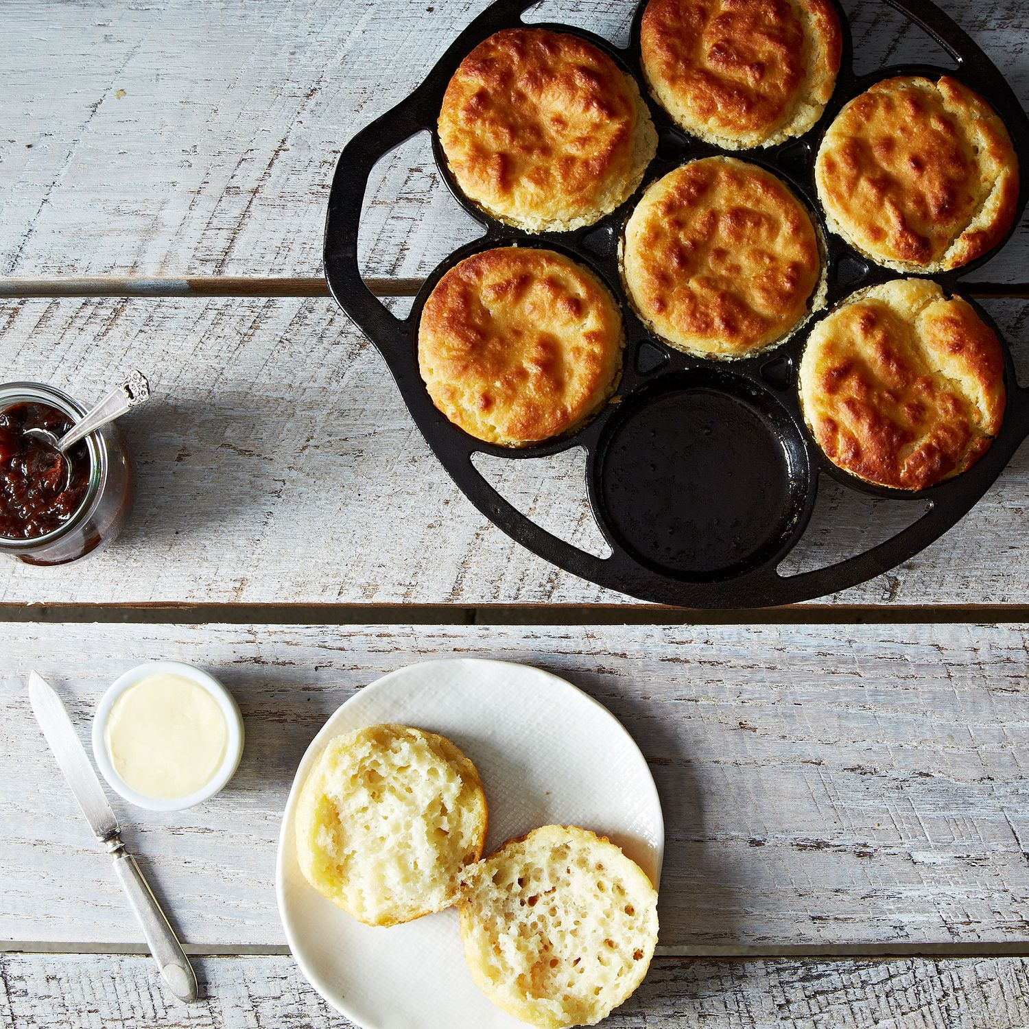 Cast iron drop biscuit pan lodge on food52 for Table 52 biscuit recipe