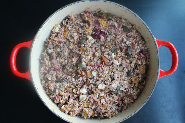Peach and Plum Muesli Oatmeal