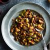 Roasted Brussels Sprouts with Bacon and Balsamic-Cranberry Glaze