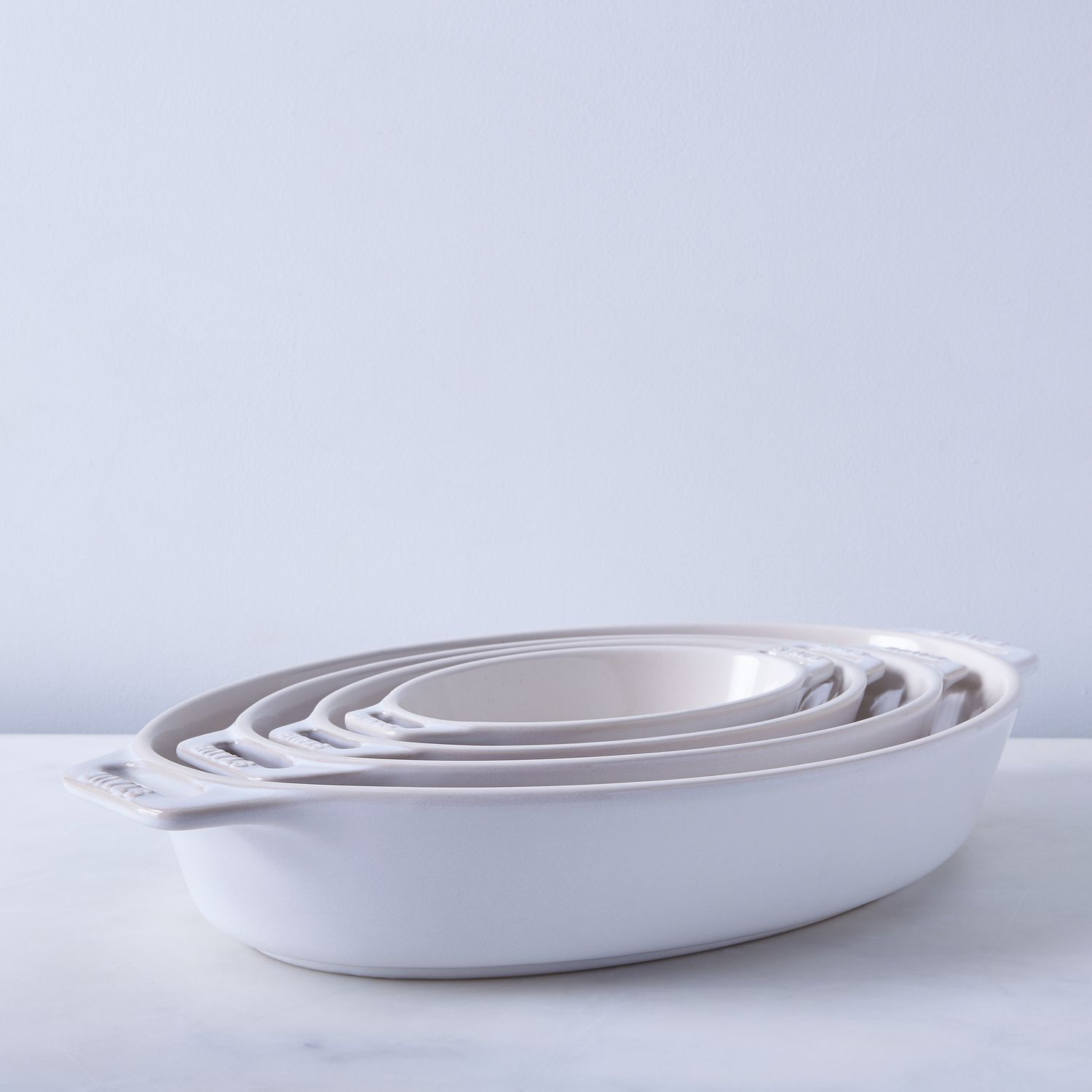Staub Ivory Rustic Ceramic Oval Baking Dishes On Food52