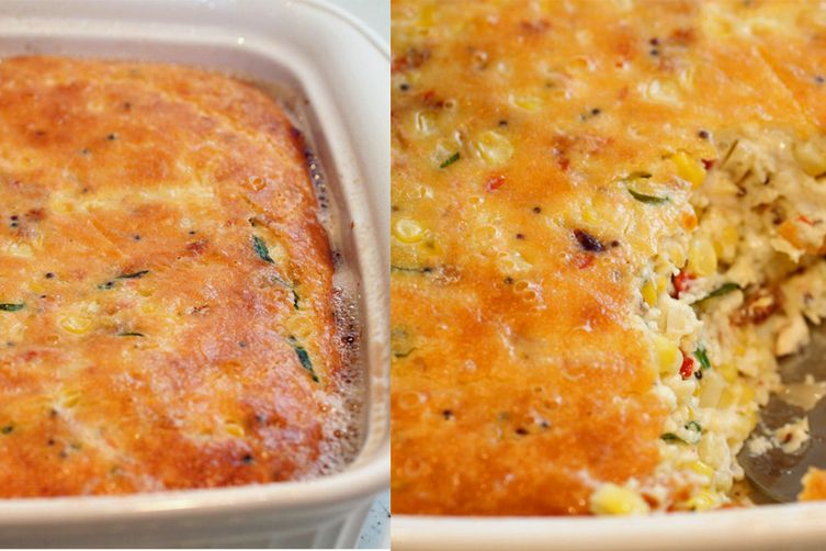 Smoky Spicy Corn Pudding