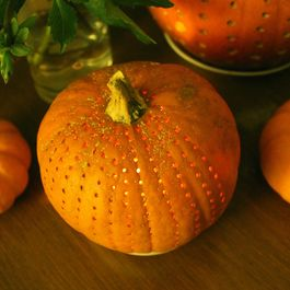 Polka-Dot Pumpkins with Seeds for Toasting