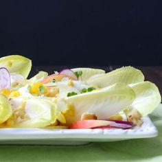 crunchy endive and walnut salad