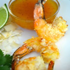 Baked bare Coconut Crusted Shrimp