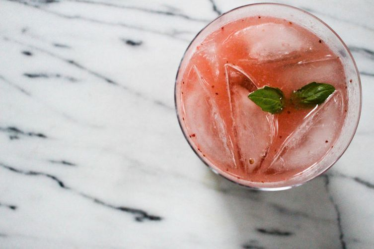 Roasted Strawberry Gin + Tonic