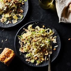 Shaved Brussels Sprouts with Brown Butter Vinaigrette, Walnuts & Pecorino