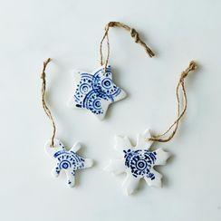 Small Ceramic Ornaments (Set of 3)