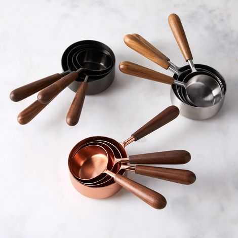 Measuring Cups With Teak Handles (Set of 4)