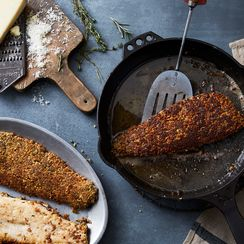Walnut-Crusted Trout with Rosemary and Thyme