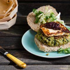 Quinoa, Fava Bean, and Chard Veggie Burgers