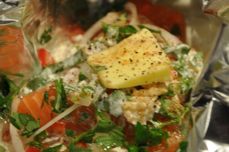 Splendid and Simple Salmon Vegetable Couscous