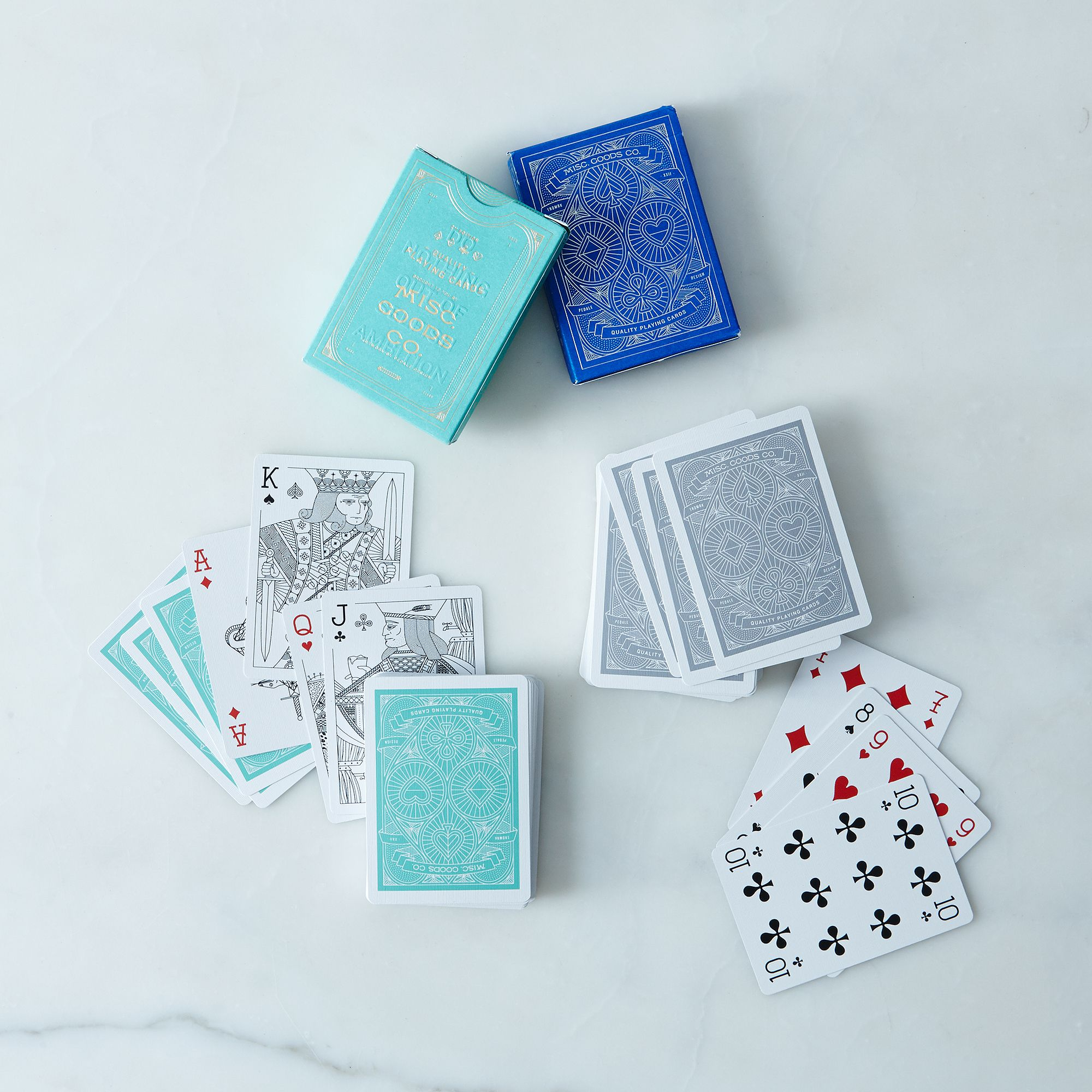 Designer Playing Cards (2 Decks) - Cobalt and Turquoise