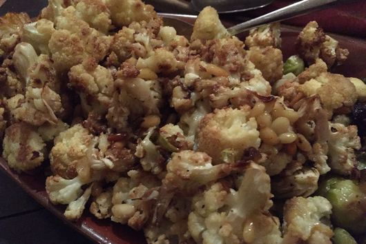 Roasted Cauliflower with Pine Nuts