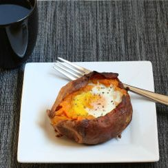 Twice Baked Potato with Egg