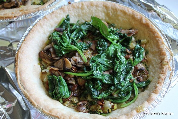 Egg White Quiche with Leeks, Spinach, Mushrooms and Feta