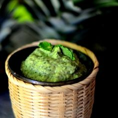 Mint/cilantro avocado spread with grilled Halloumi