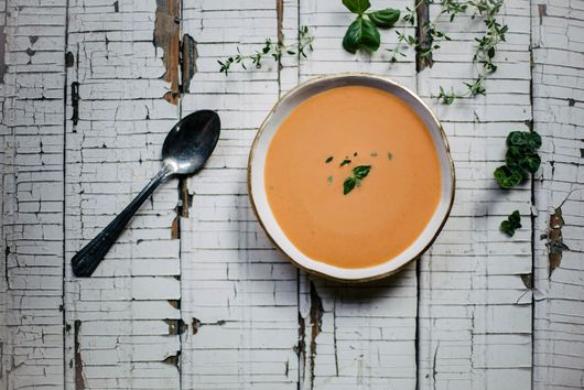 Chilled Tomato Peach Soup