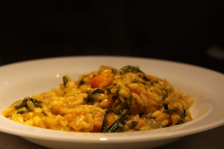 Butternut Squash Risotto with Winter Greens