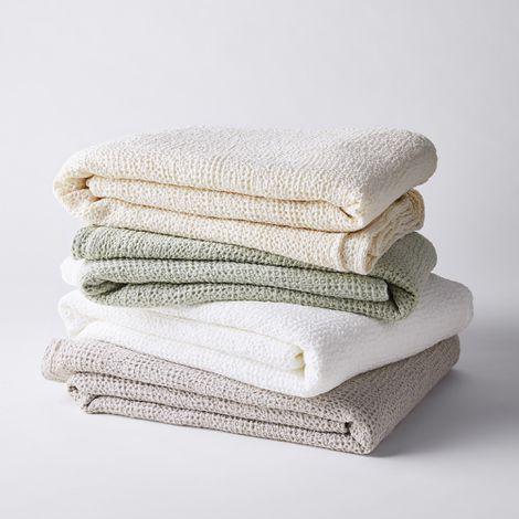 Lightweight Waffle Cotton Blanket