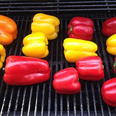 Roasted Peppers on the Barbeque