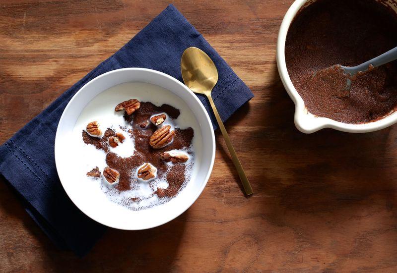 Teff Porridge with Pecans, Dates, and Honey