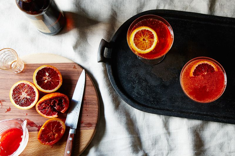 Happy, refrigerated blood oranges make for happy, refreshing cocktails.