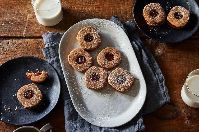 Slice and Bake Linzer Cookies