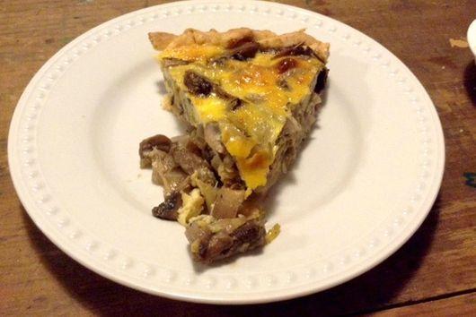 Mushroom and Shallot Rustic Pie